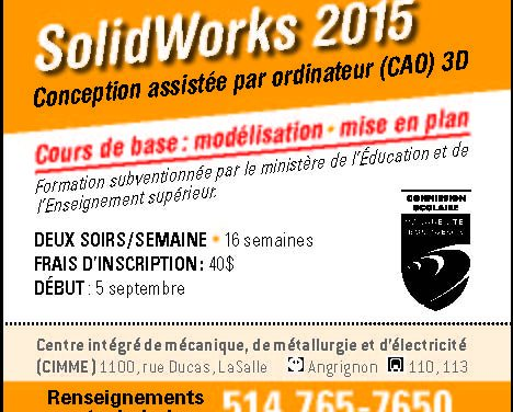 Conception assistée par ordinateur avec le logiciel SolidWorks